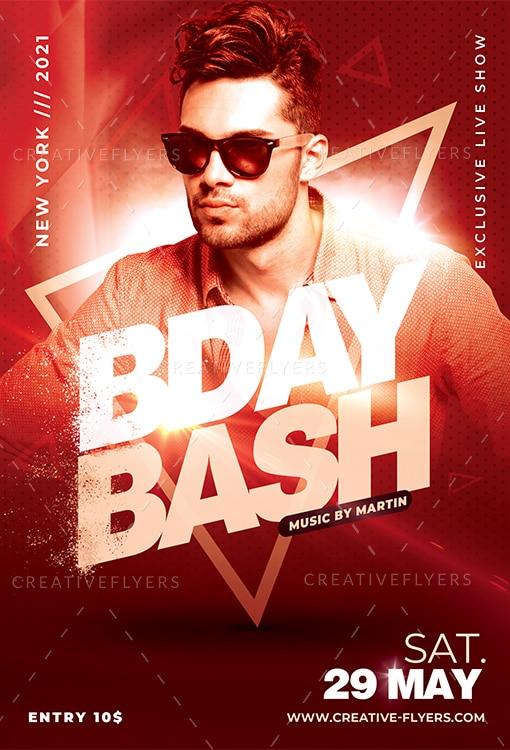 Nightclub Birthday Bash flyer