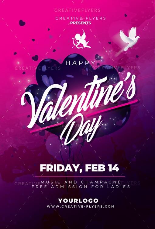 Valentines Day Flyer Design