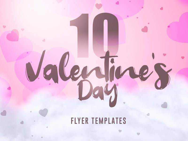 10 Trendy Valentine's Day flyers