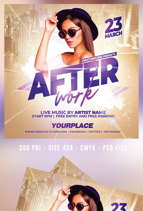 After work Party Club Flyer