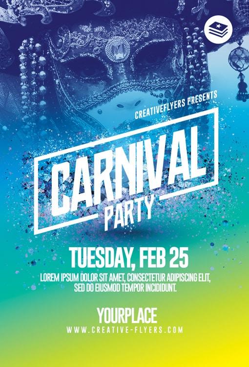 Customizable Carnival flyer Psd