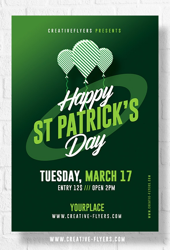 Flyer for St Patrick's Day