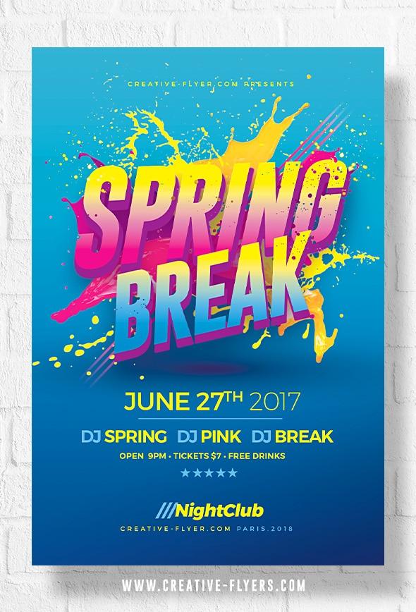 Spring Break Psd Flyer