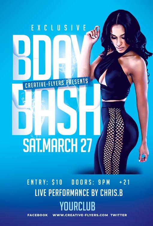 Photoshop Birthday Bash Flyer