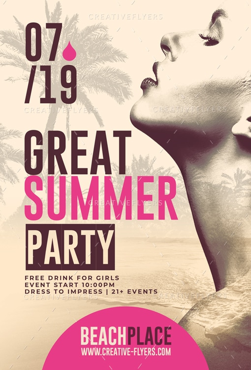 Great Summer Party Flyer