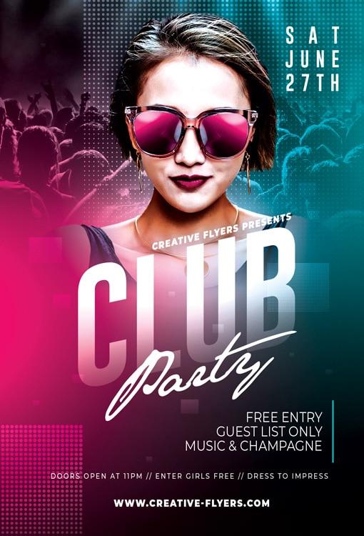 Night Club Party Photoshop Design