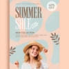 summer collection flyer design