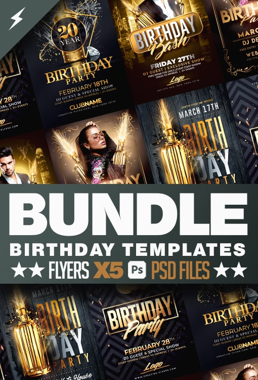 Birthday Flyers Bundle