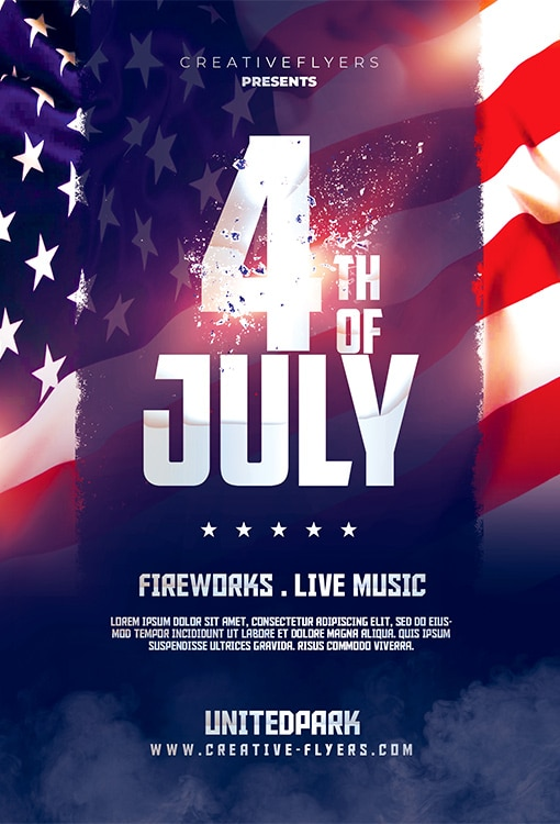 Independence Day Flyer Psd