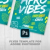 Afro vibes flyer template