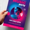 Free Music Party Flyer Psd