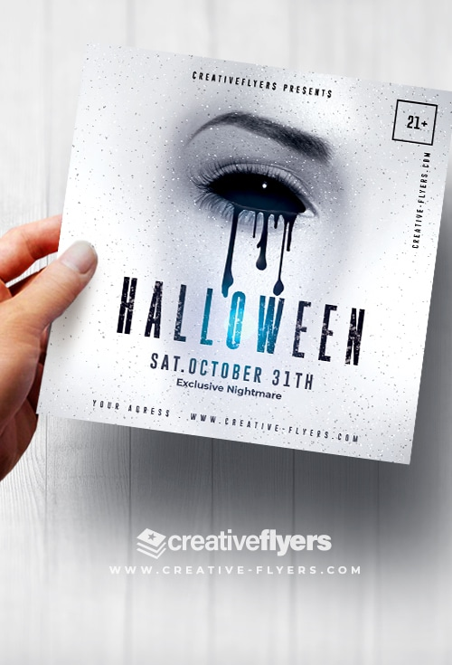 Halloween Mansion Party Flyer