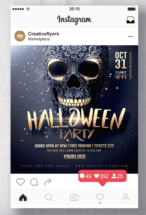 Black and Gold Halloween Flyer