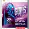 Girls Party, Nightclub Flyer