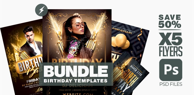 birthday flyers Bundle