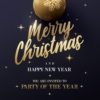 Black and gold Christmas card