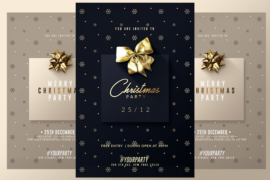 2 Invitations for Christmas