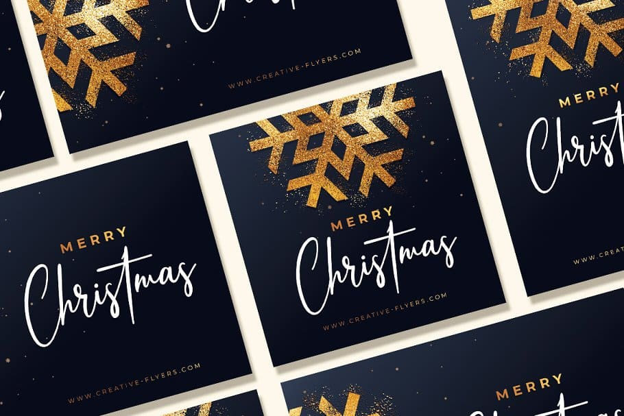 3 Christmas Invitations Template