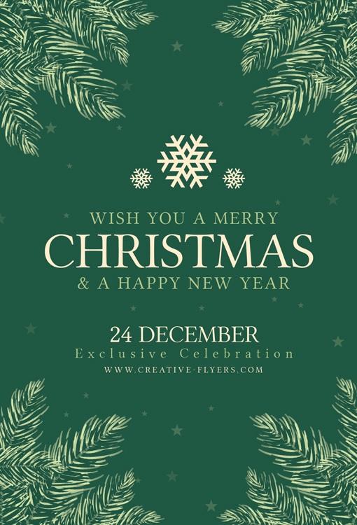 Green Christmas Invitation