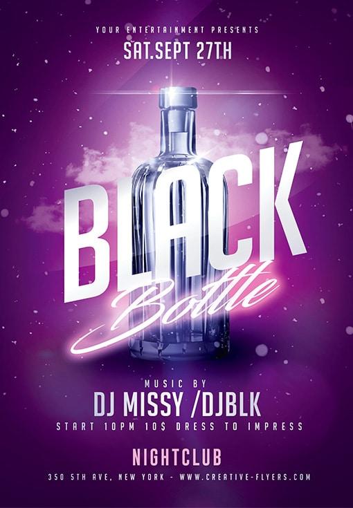 Black Bottle Party Flyer