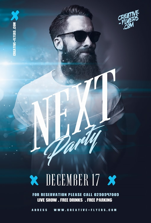 Next Party Flyer Template