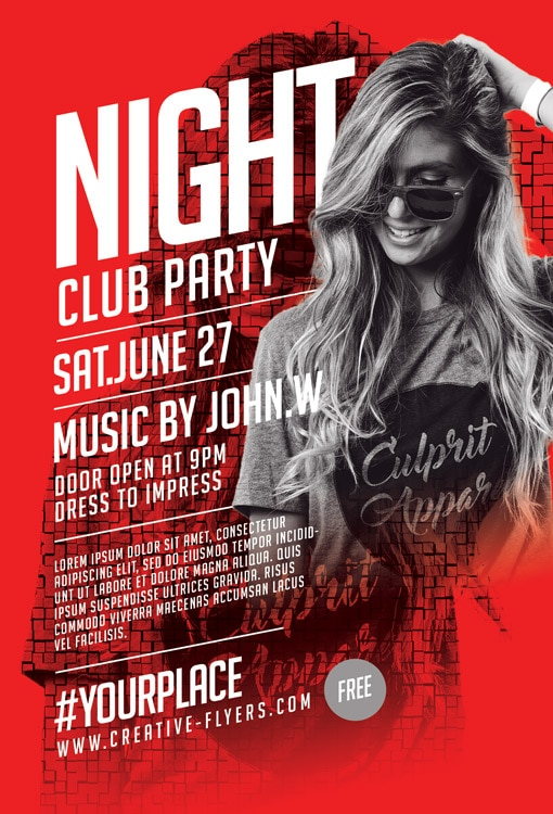Party free PSD flyer