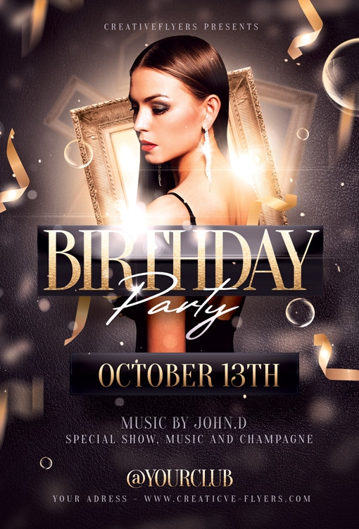 Birthday party Psd flyer