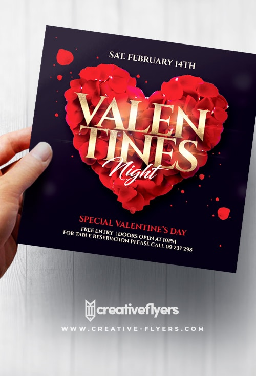 Valentines Party PSD Flyer