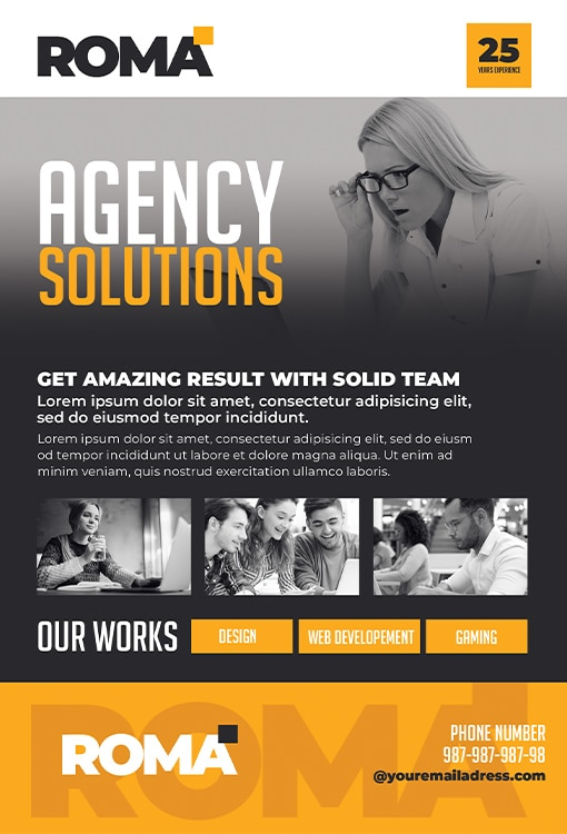 development agency flyer template