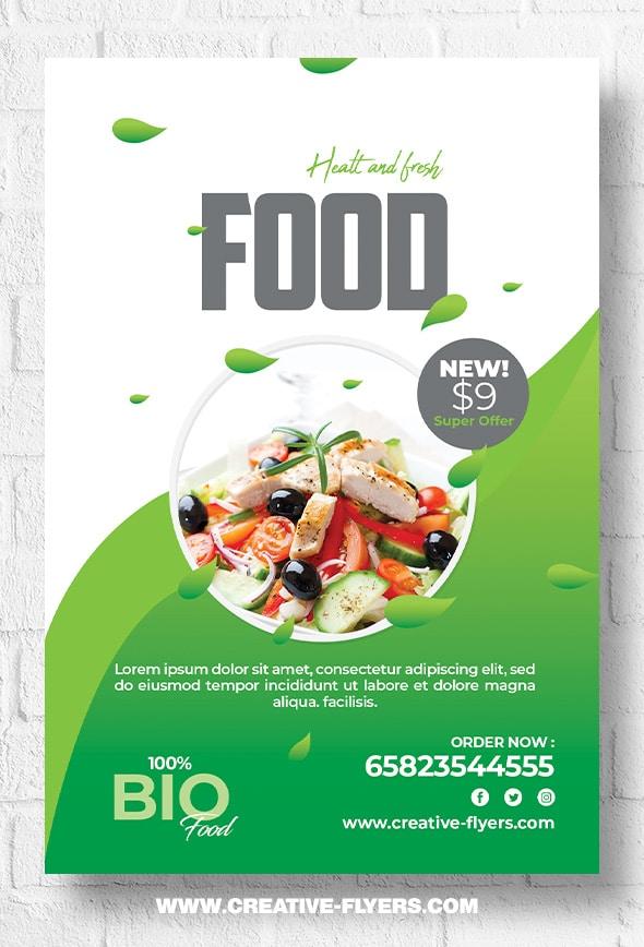 Healty food flyer template