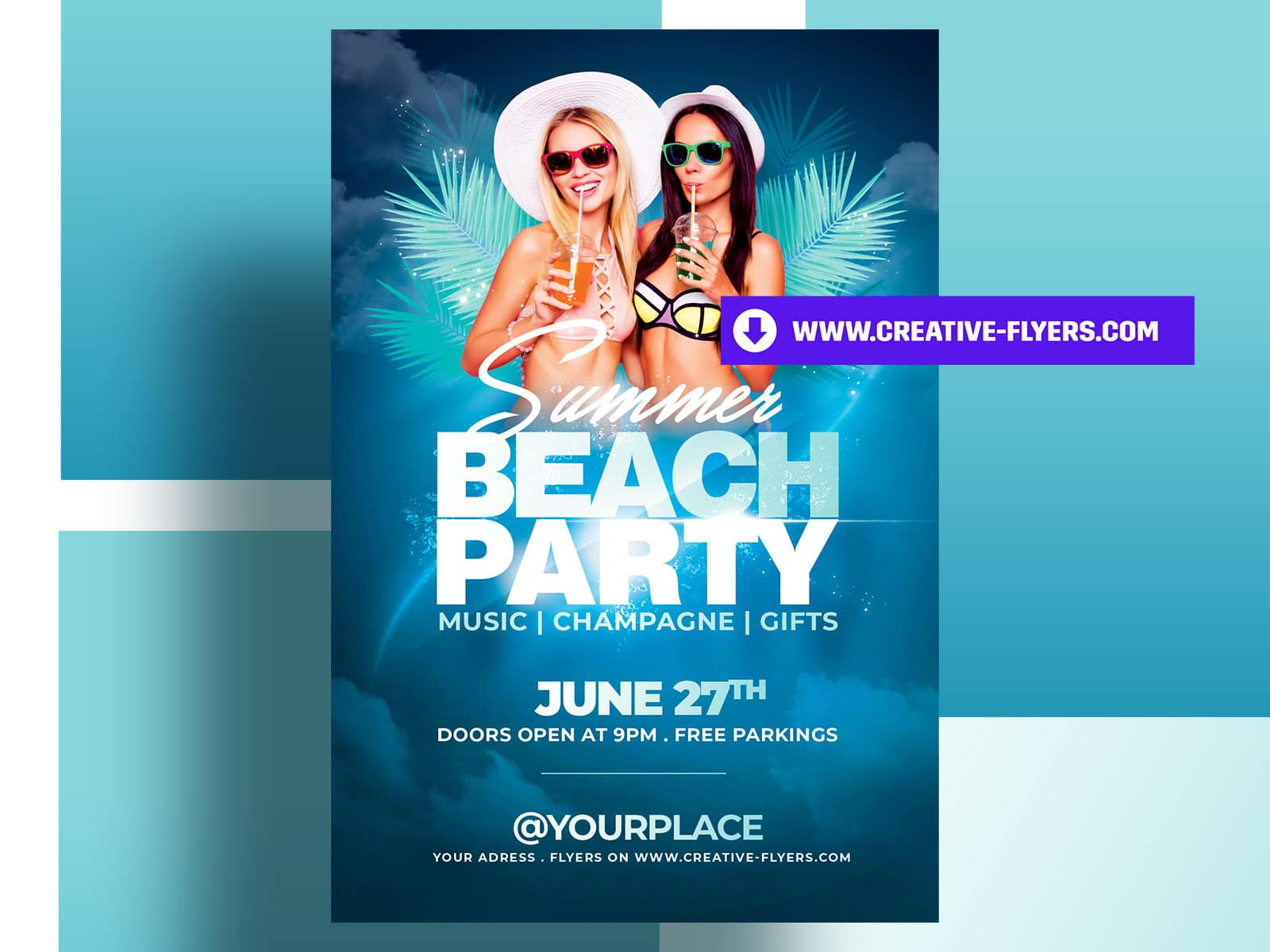 Beach Party Flyer for this Summer
