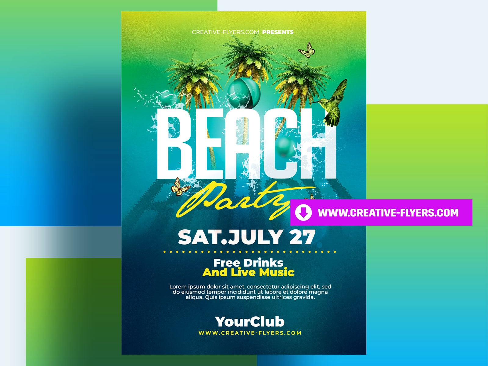 Photoshop Beach Party Flyer