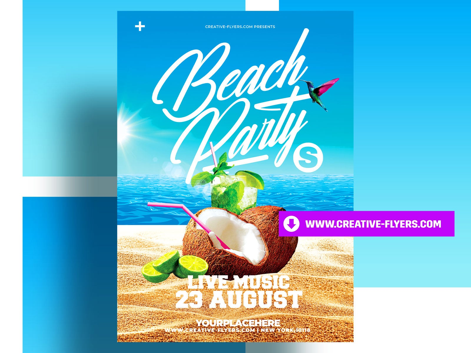 Photoshop poster for Summer Beach Party