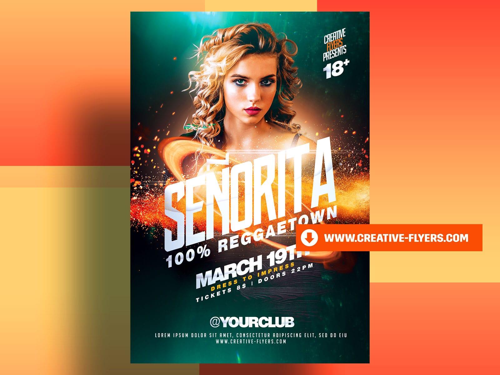 Señorita Party Flyer Template