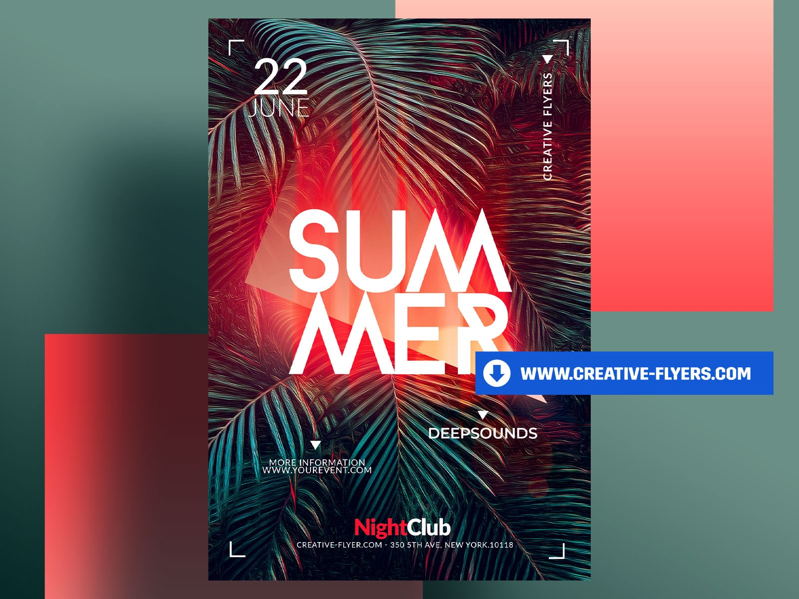 Summer Template Design for Photoshop