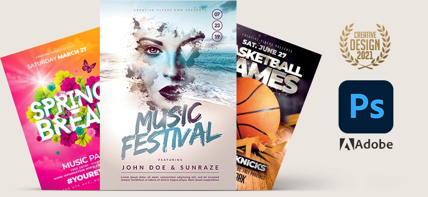 Featured PSD flyer templates