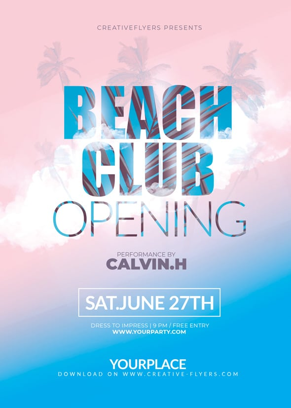Opening Flyer Template