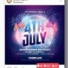 4th of July flyer design