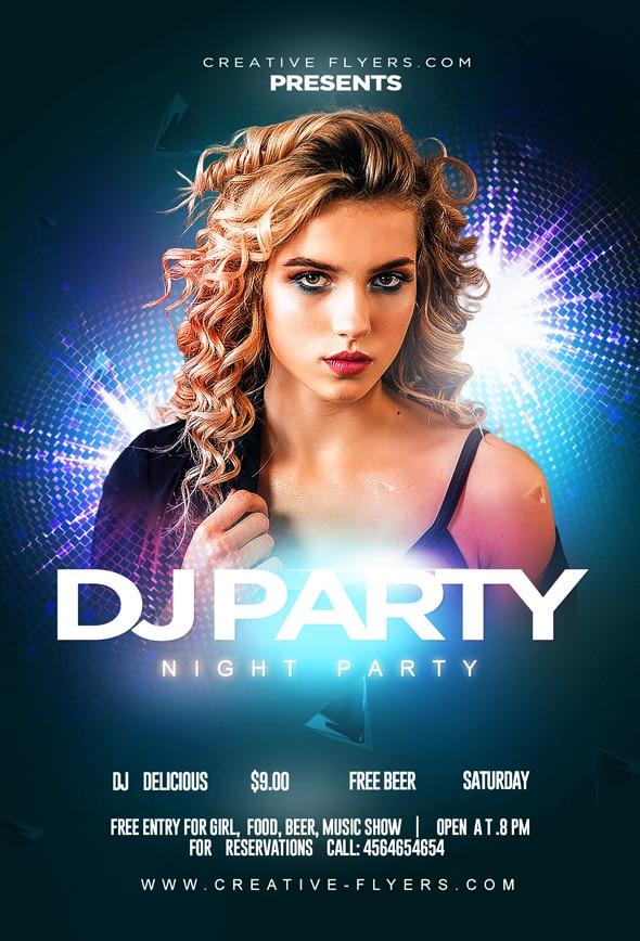 Free Nightclub Party Flyer