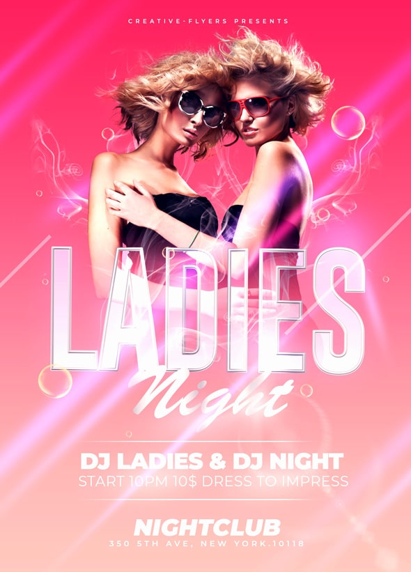 Ladie Night Party Flyer