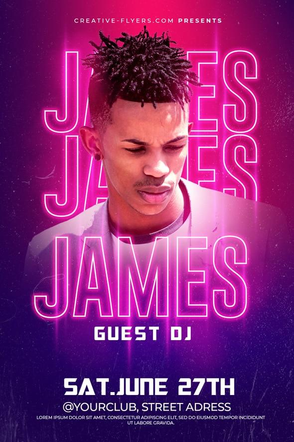 Guest DJ Flyer template