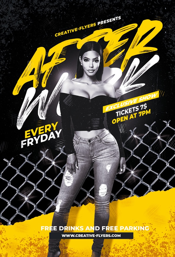 After Work Party Flyers