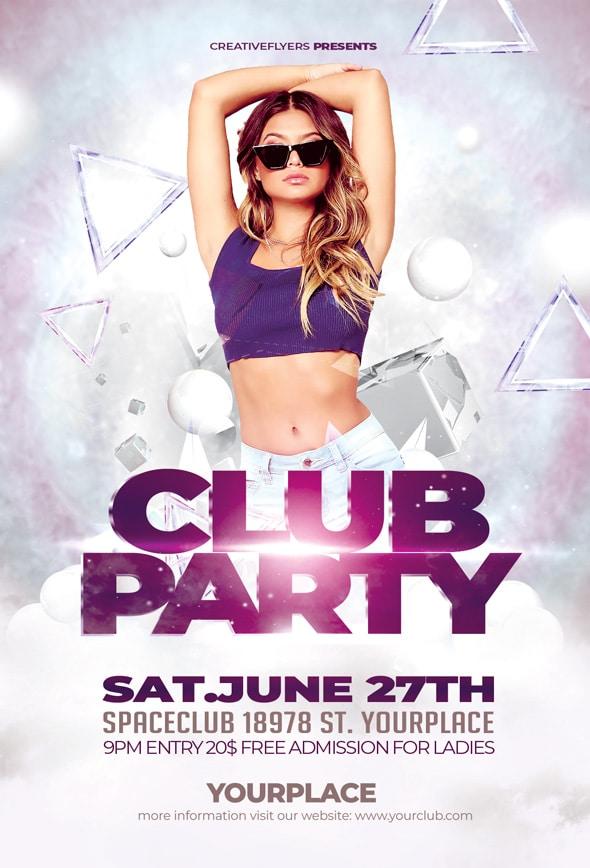 Club Party Flyer Design