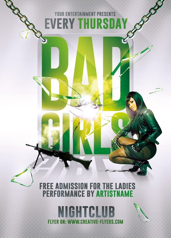 Girls Party Flyer