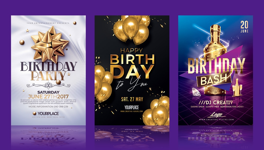 Birthday flyer templates
