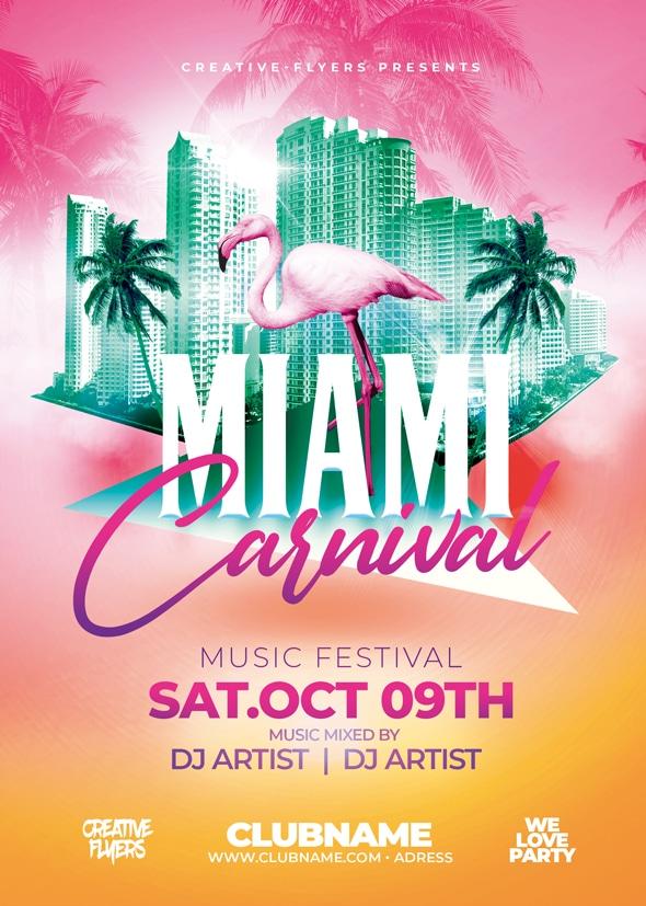 Miami Carnival Flyer